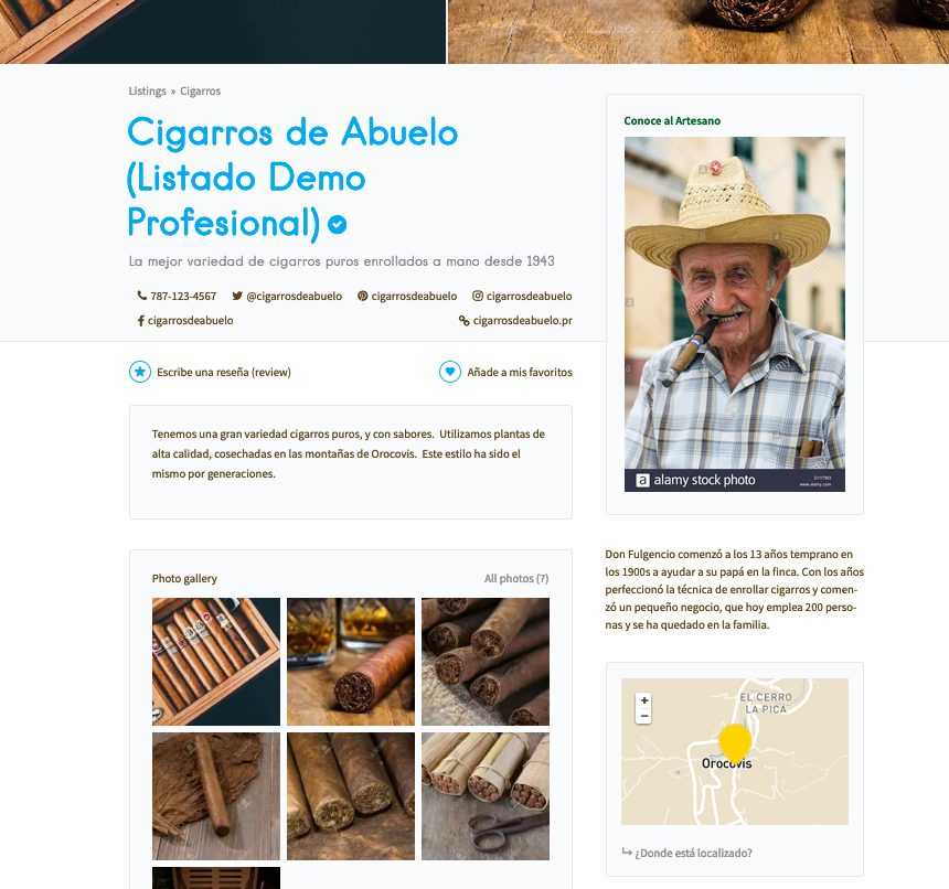 , ¿Qué es Directorio Artesanal?, Directorio Artesanal de Puerto Rico