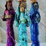 en barro boricua trujillo alto 2 Reyes Magos en ceramica