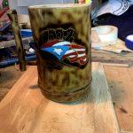Artesanías Yaer patillas 3 bambú artesanal vasos mugs
