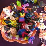Artesanías Celida 2 trajes de niña a crochet jibaras bailadoras de bomba
