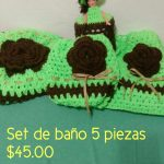Rosarts & Crochets 2 Set de baños