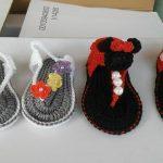 Ligia's crochet cabo rojo zapatos chancletas tejidas para bebes