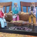 Los Tres Santos Reyes Magos - Adrián Rodríguez tallado en madera puerto rico boricua artesanias 1