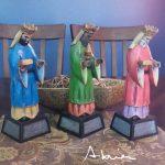 Los Tres Santos Reyes Magos - Adrián Rodríguez tallado en madera puerto rico boricua artesanias 2