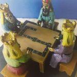 Los Tres Santos Reyes Magos - Adrián Rodríguez tallado en madera puerto rico boricua artesanias 3 domino