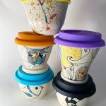 MilieshPottery pottery barro ceramica tazas de cafe coloridas ceramica artesanal eco-amigable
