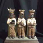 talla de Santos y Reyes Magos rio grande madera puerto rico parranda panderos musica Tres Reyes Magos