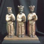 talla de Santos y Reyes Magos rio grande madera puerto rico parranda panderos musica 2 Tres Reyes Magos
