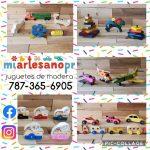 miartesanopr 1 juguetes en madera carritos aviones