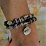 PicaFlor joyeria hechas a mano eco amigable reciclado papel beads pulsera brasalete